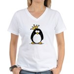 King penguin Women's V-Neck T-Shirt