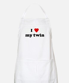 I Love my twin BBQ Apron