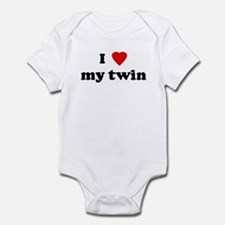 I Love my twin Infant Bodysuit