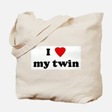 I Love my twin Tote Bag