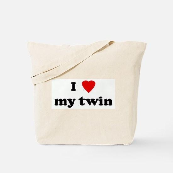 I Love my twin Tote Bag