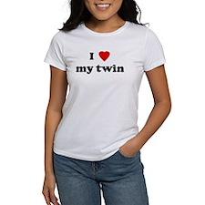 I Love my twin Tee