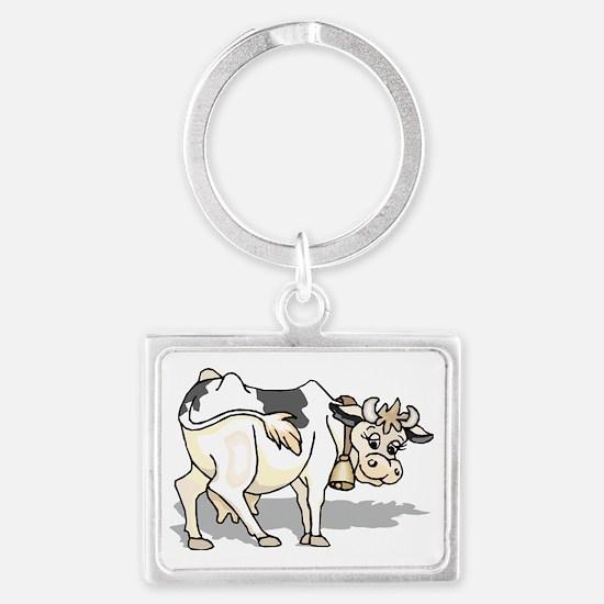 Dairy Cow Landscape Keychain