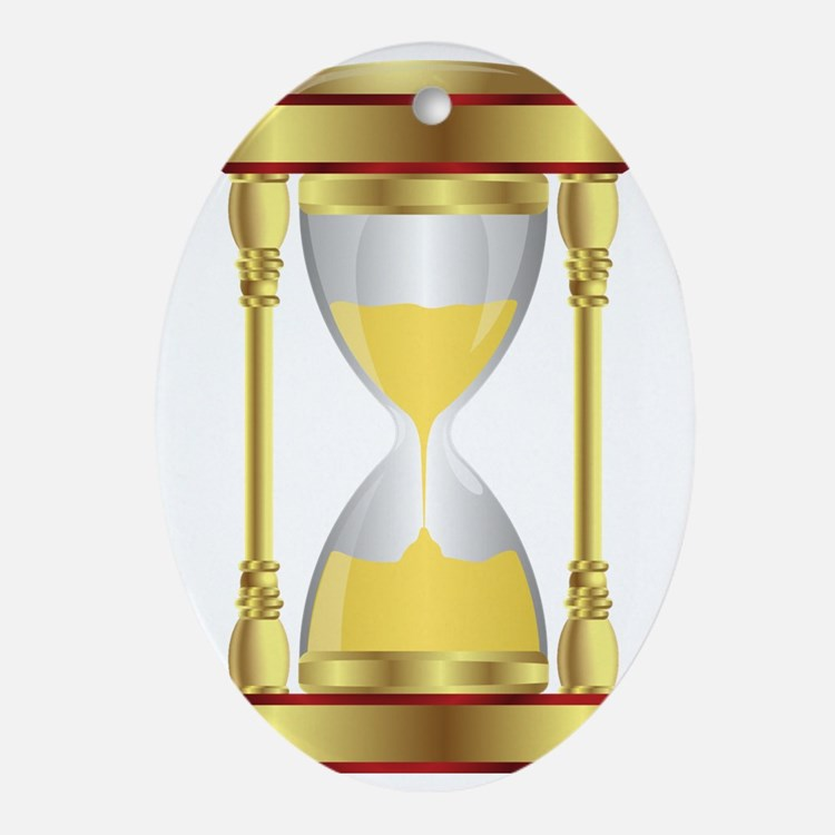 Hourglass  Oval Ornament
