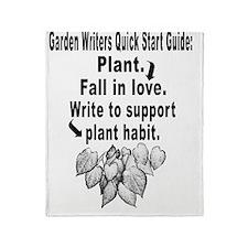 Garden Writers Quick Start Guide Throw Blanket