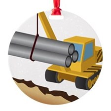 Construction Equipment Ornament