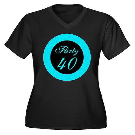 Forty Women's Plus Size V-Neck Dark T-Shirt