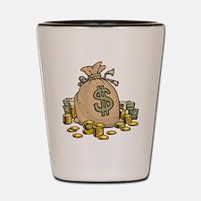 Money Bags Shot Glass