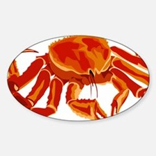 King Crab Sticker (Oval)