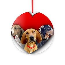 St Valentines Hounds - WNT Round Ornament