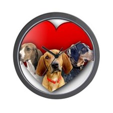 St Valentines Hounds - WNT Wall Clock