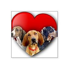 "St Valentines Hounds - WNT Square Sticker 3"" x 3"""