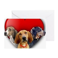 St Valentines Hounds - WNT Greeting Card