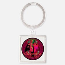 Cleopatra Reincarnated Red Ruby Ca Square Keychain