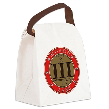 Come and Take It - Trace Red Canvas Lunch Bag