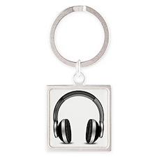 Headphones Square Keychain