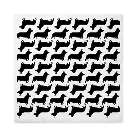 corgi silhouettes pattern Queen Duvet