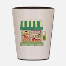 Produce Stand Shot Glass