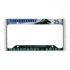 Tyrannosaurus Rex Czechoslova License Plate Holder