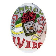 My Version of Camel Wides Oval Ornament