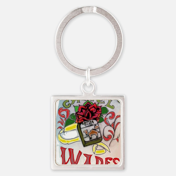 My Version of Camel Wides Square Keychain