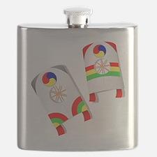 Asian Wall Art Flask