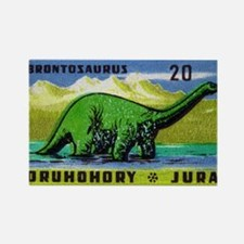 Brontosaurus Czechoslovakian Matc Rectangle Magnet