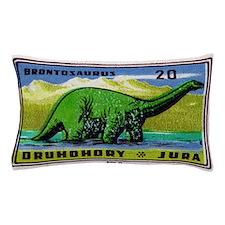 Brontosaurus Czechoslovakian Matchbox  Pillow Case