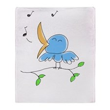 littlebirdie - color 2 Throw Blanket