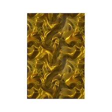 Gold Silk Rectangle Magnet