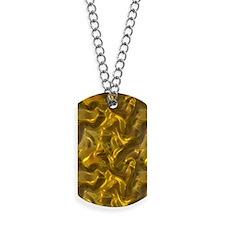 Gold Silk Dog Tags