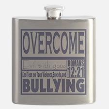 Overcome Bullying Navy Flask
