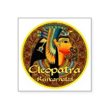 "Cleopatra Reincarnated Pers Square Sticker 3"" x 3"""