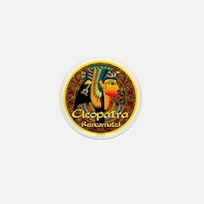 Cleopatra Reincarnated Persian Carpet Mini Button