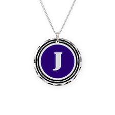 Purple Necklace Circle Charm
