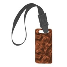 Bronze Copper Silk Luggage Tag