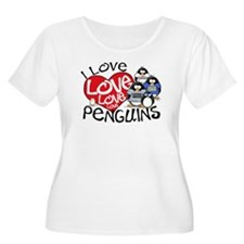 I Love Love More Penguins T-Shirt