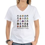 Lots of Penguins Women's V-Neck T-Shirt