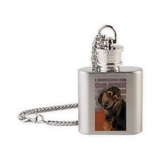 Bassett Puppy Journal Flask Necklace