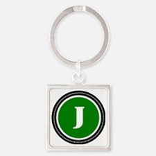 Green Square Keychain
