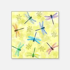 "dragonflies shower curtain Square Sticker 3"" x 3"""