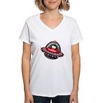 Evil Space Penguin Women's V-Neck T-Shirt