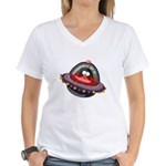 Evil Space Penguin Women's V-Neck T-Shirt