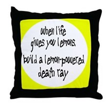 lemonsbutton Throw Pillow