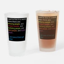 antibullyingblackbg Drinking Glass