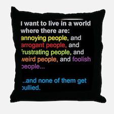 antibullyingblackbg Throw Pillow