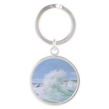 so_Round Compact Mirror Round Keychain