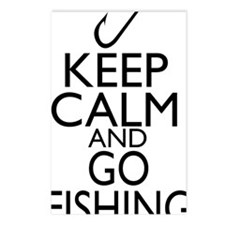 Keep Calm and Go Fishing Postcards (Package of 8)