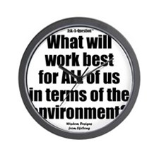 Environment Question iPhone Wall Clock
