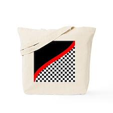 Racing Checkered Design Tote Bag